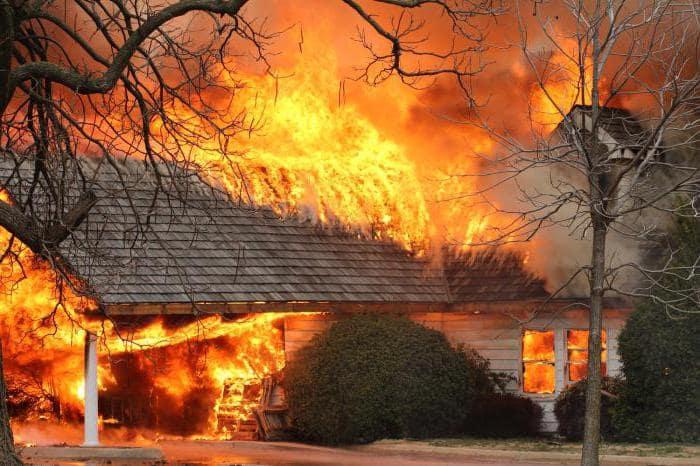 Пожары в частных домах