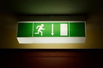Знак пожарного выхода